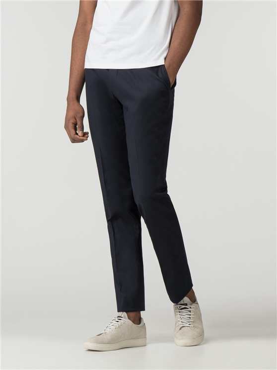 Navy Cotton Camden Fit Trouser