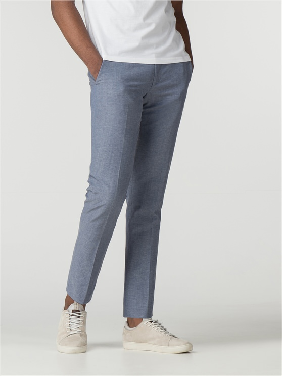 Light Blue Chambray Camden Fit Trouser