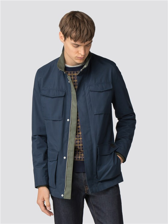 Navy Four Pocket Jacket