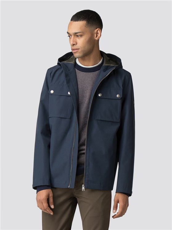 Navy Hooded Anorak
