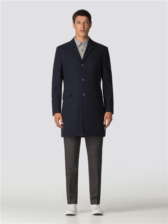 Men S Navy Blue Tailored Coat Ben Sherman Est 1963