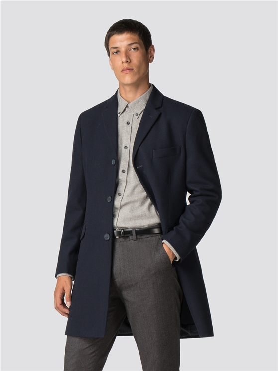 Navy Tailored Coat