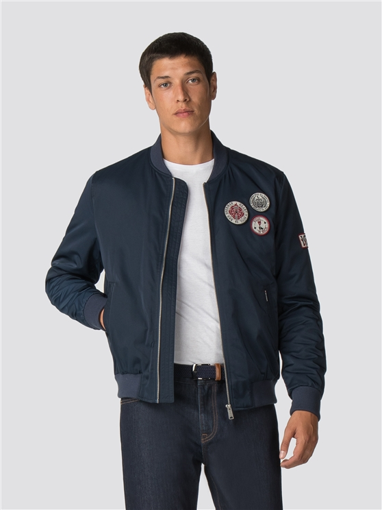 Sateen Badge Bomber Jacket