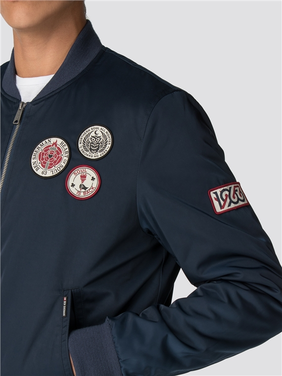 Men's Northern Soul Sateen Badge Bomber | Ben Sherman | Est 1963