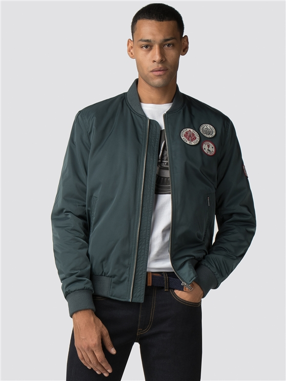 Sateen Badge Bomber