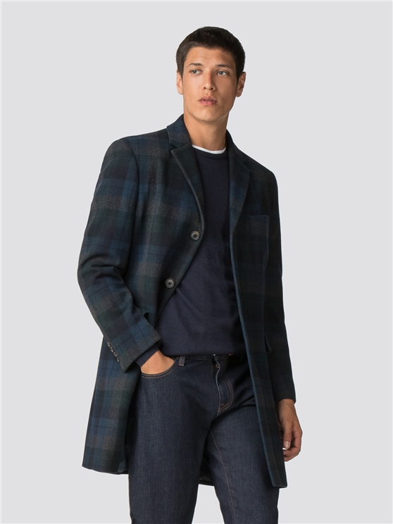 Statement Check Tailored Coat