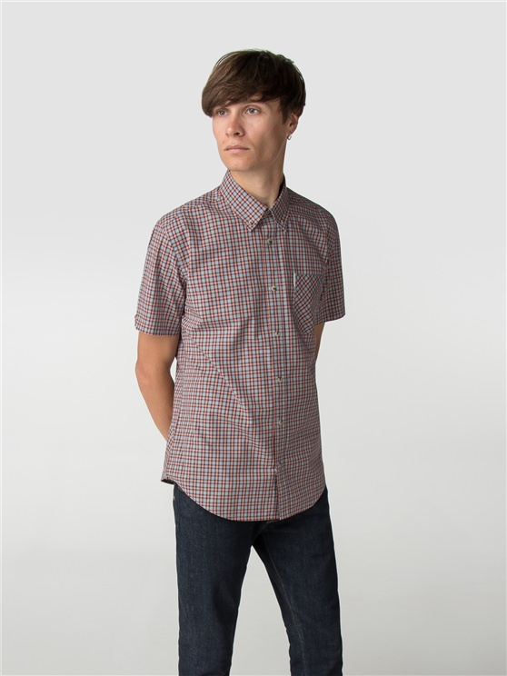 Port Short Sleeve Pop Check Shirt
