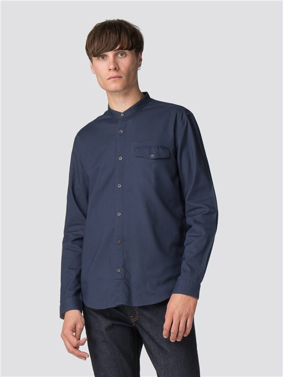 Long Sleeve Indigo Oxford Shirt