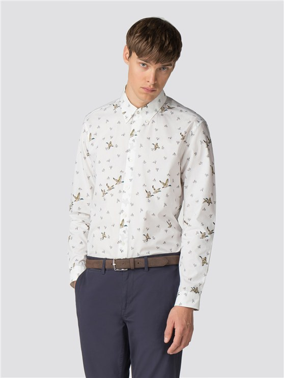 Long Sleeve Duck Print Shirt