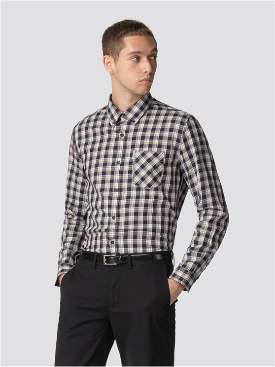 Long Sleeve Heritage Windowpane Shirt