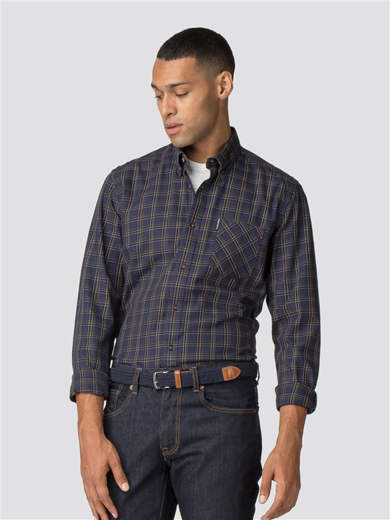 Long Sleeve Heritage Windowpane Check Shirt