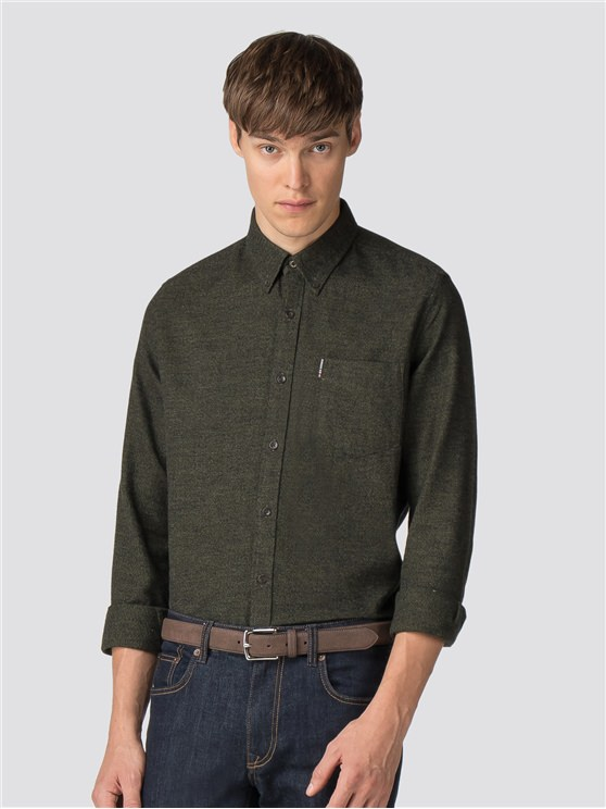 Long Sleeve Twisted Brushed Shirt