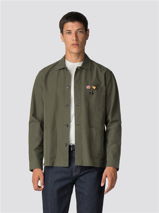 Long Sleeve Badge Overshirt
