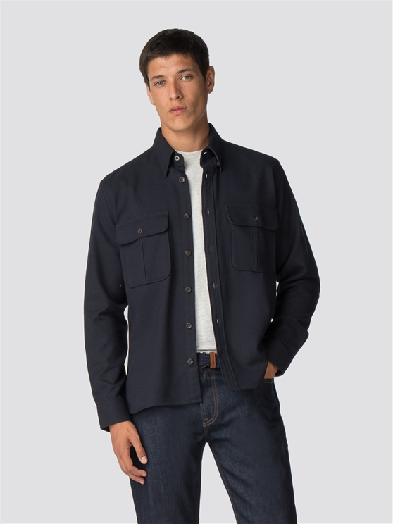 Long Sleeve Wool Utility Shirt