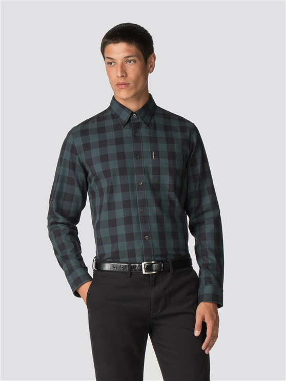 Long Sleeve Parquet Gingham Shirt