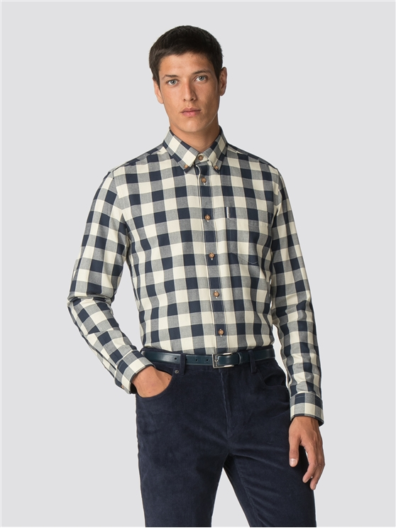 Blue Parquet Gingham Shirt