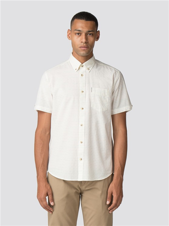 Short Sleeve Raised Texture Shirt
