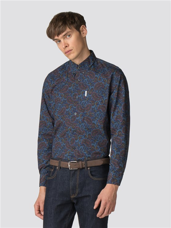 Blue Long Sleeve Archive Vega Shirt