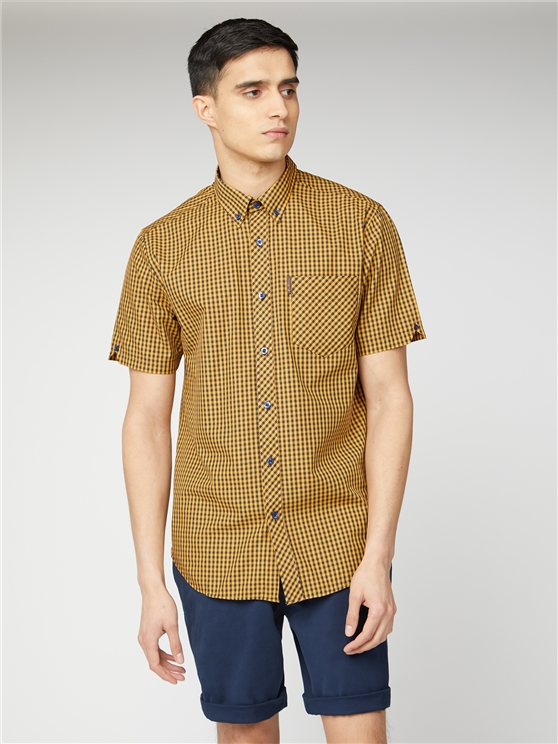 Short Sleeve Gingham Shirt