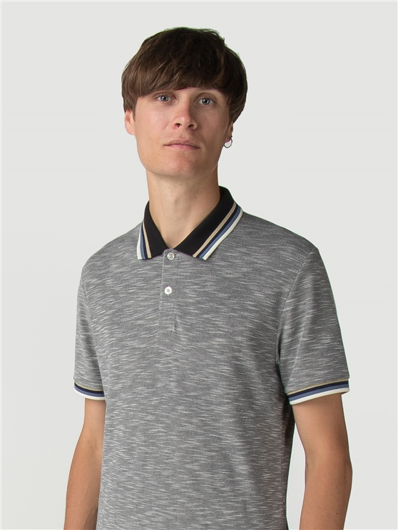 Tipped Collar Slub Polo
