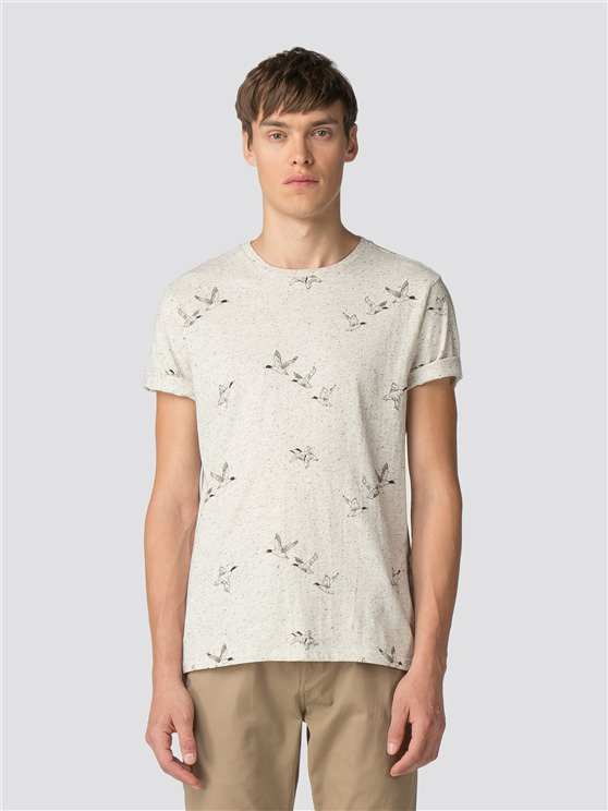 White Duck Print T-Shirt
