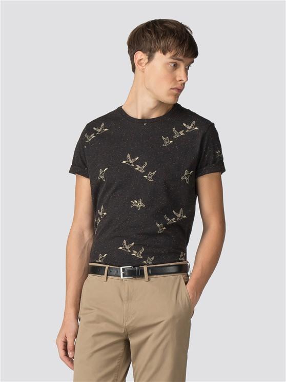 Black Duck Print T-Shirt