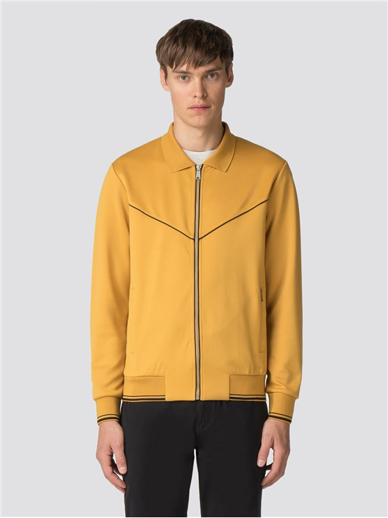 Yellow Tricot Track Top Jacket
