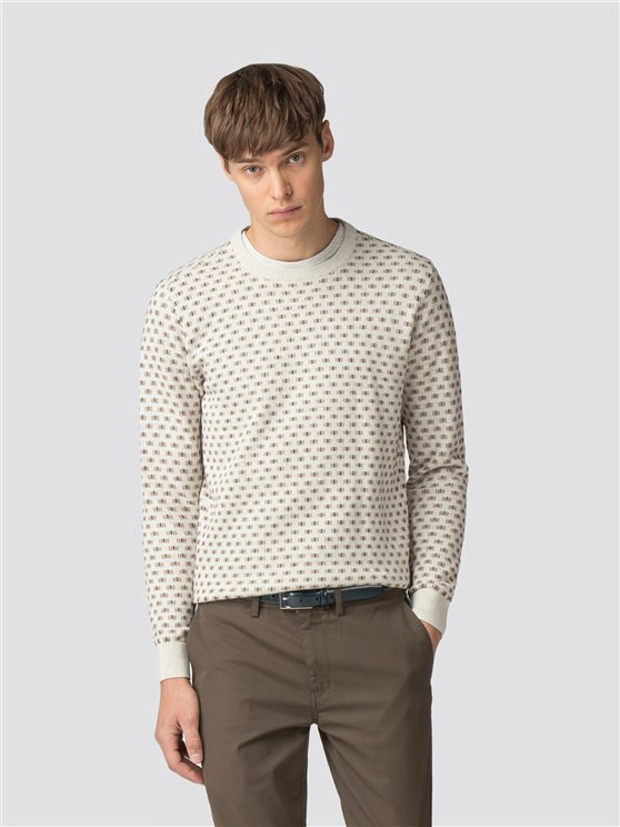 Geo Knit Crew Neck Jumper