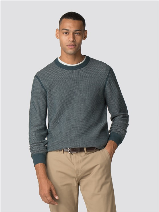 Micro Waffle Crew Neck Jumper
