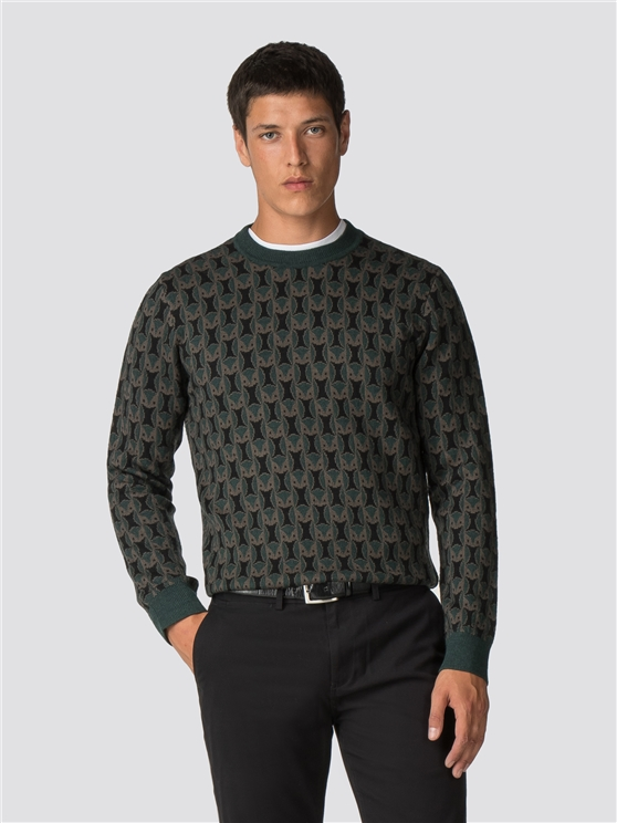 Green Owl Jumper