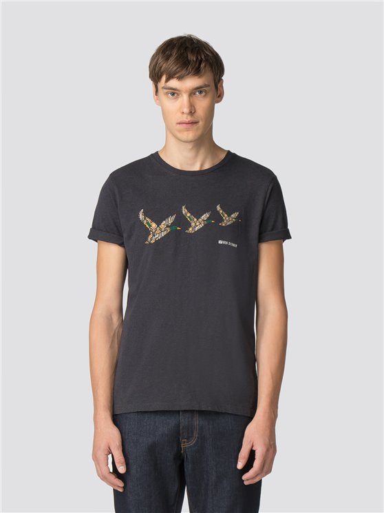 Retro Duck Print T-Shirt