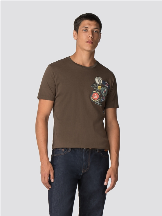 Olive Badge Chest T-Shirt