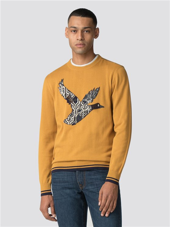 Yellow Crew Neck Duck Jumper
