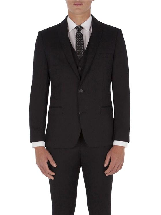 Jet Black Twill Camden Fit Suit