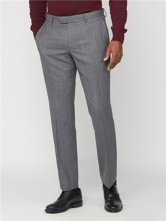 Grey Jaspe Suit Trouser