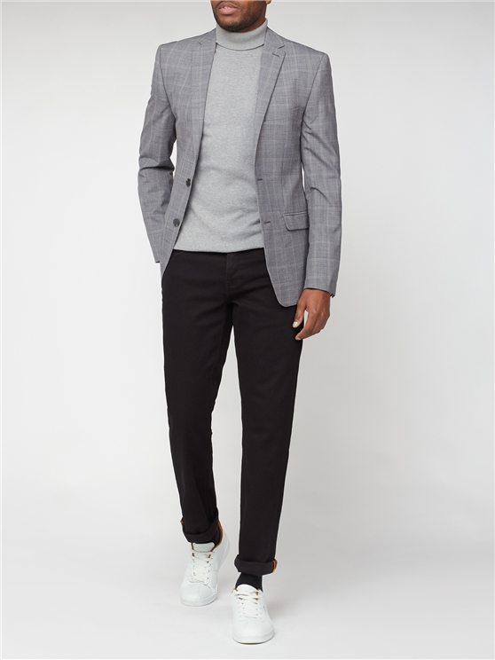 Grey Windowpane Check Suit