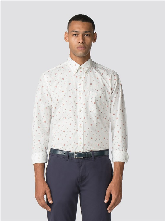 Long Sleeve Rose Scatter Shirt
