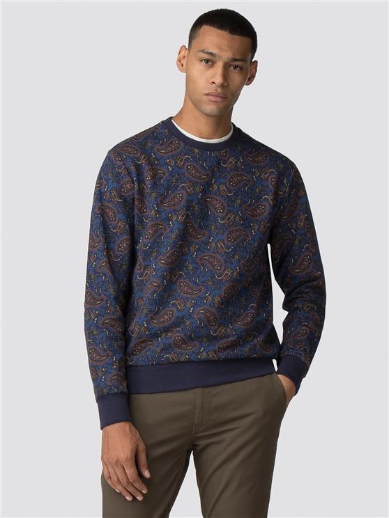 Paisley Printed Sweatshirt