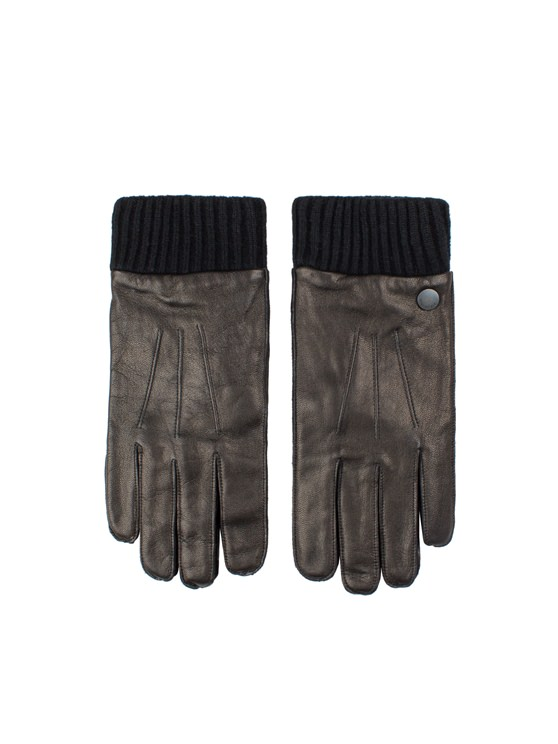 Leather Glove With Knit Rib- currently unavailable