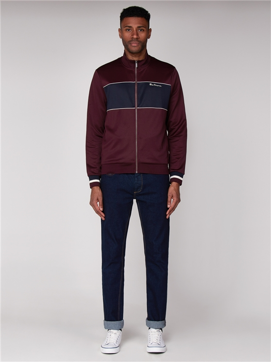 Wine Red Tricot Track Top