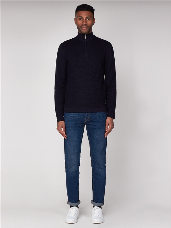 Quarter Zip Funnel Neck