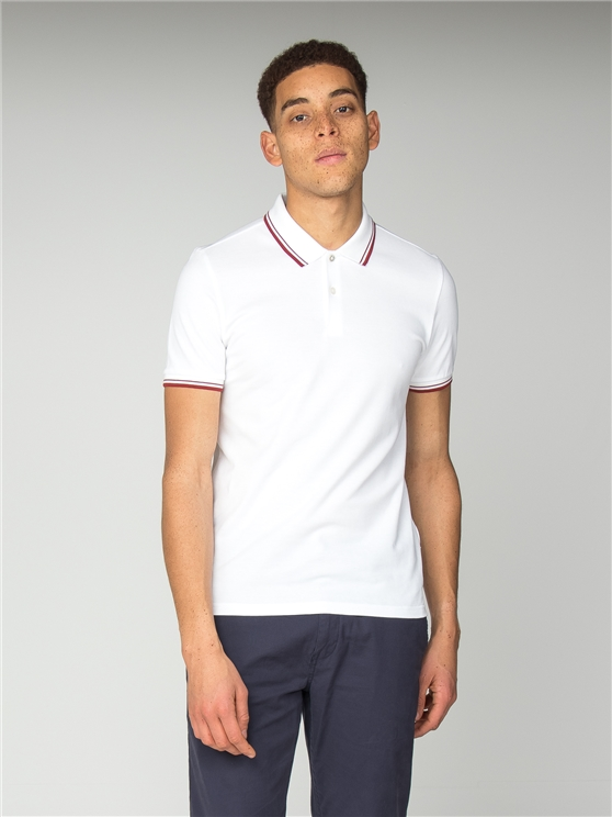 Slim Fit White Polo Shirt