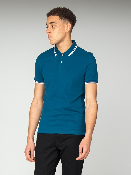 Slim Fit Blue Polo Shirt