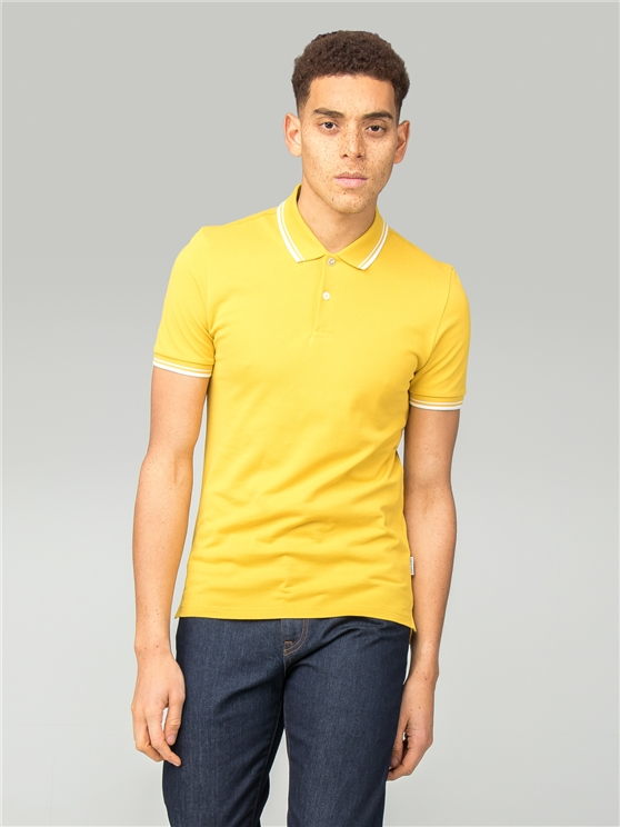 Slim Fit Yellow Polo Shirt