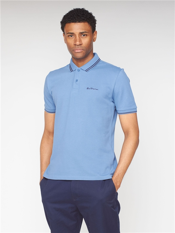 Blue Romford Tipped Polo