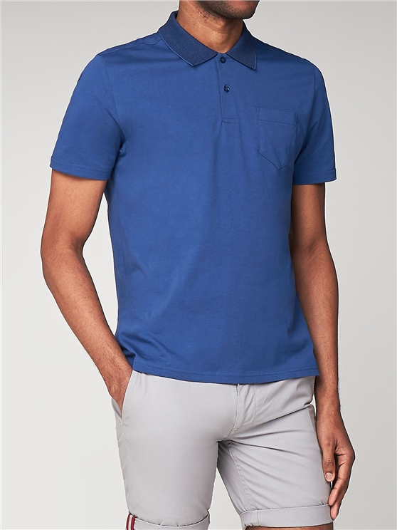 Plain Short Sleeve Jersey Polo