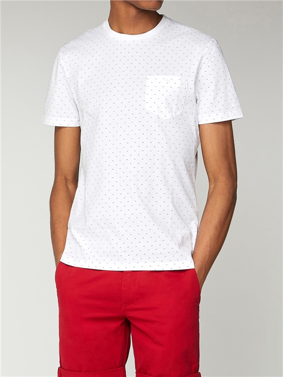 Mini Dot Print T Shirt