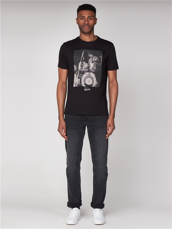 Keith Moon Drum Print T-Shirt
