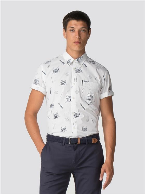 Keith Moon Short Sleeve Drum Print Shirt