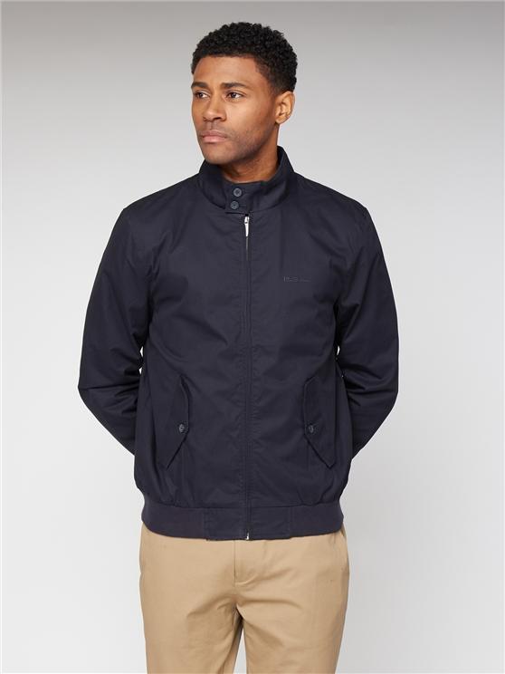 Classic Navy Cotton Harrington Jacket